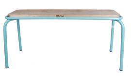 Kitchen Trend metalen bank met houten zitting 100cm - azur