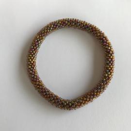Loffs armband - meerkleurig/ goud