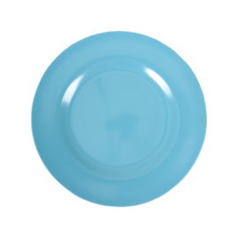 RICE melamine rond lunchbord 20cm - turquoise