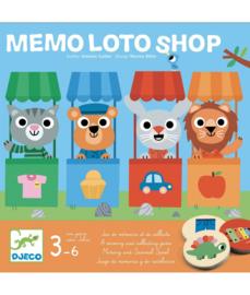 DJECO spel - Mémo Loto shop  3 jr. +