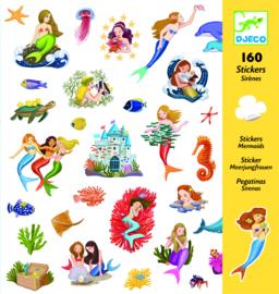 DJECO 160 stickers - thema zeemeerminnen 4 jr. +