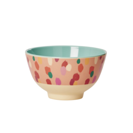 RICE melamine schaaltje two tone - coral dapper dot print