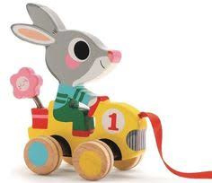 DJECO Trekdier Roulapic - konijn in racewagen  18 mnd. +