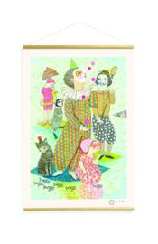 Papieren poster 40 x 60 cm met houten latjes - water dream