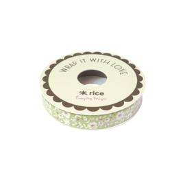 RICE inpaklint - Green Flower