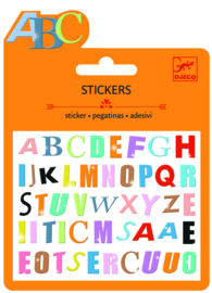 DJECO Mini stickers - gekleurde letters (puffy) 3 jr. +