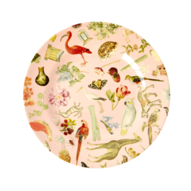 RICE melamine side plate - pink art print