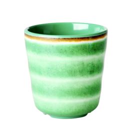 RICE beker - Swirl print - groen