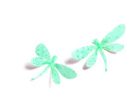 DJECO muursticker - tak met bloemen & libellen - met 3D effect