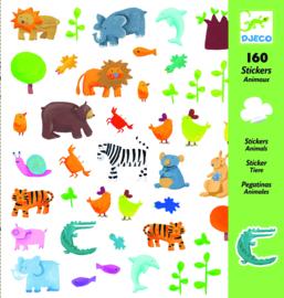 DJECO 160 stickers - thema dieren 4 jr. +