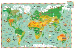 DJECO Puzzel reis rond de wereld (200 stukjes) 6 jr. +