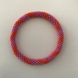 Loffs armband - oranje/ roze