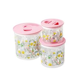 RICE potten met deksel - Lupine print