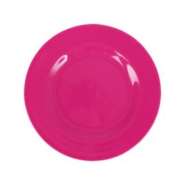 RICE melamine rond lunchbord 20cm - fuchsia