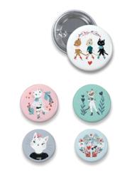 DJECO set van 5 buttons - 4 jr+