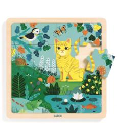 DJECO  houten puzzel Puzzlo Lily 3 jr. +