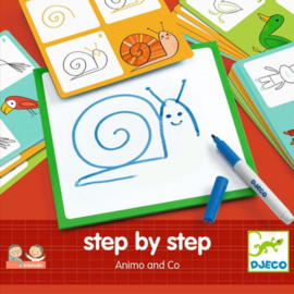 DJECO step by step - animals & co  4 jr. +
