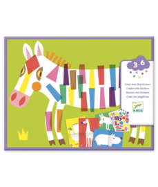 DJECO Create with Stickers - Large Animals 3 jr. +