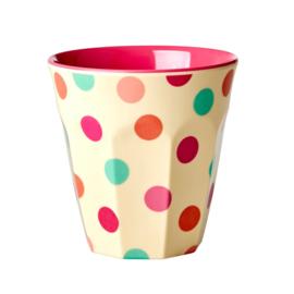 RICE beker - Pink Dots print  (nieuwe collectie 'Choose Happy' 2021)