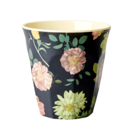 RICE beker - Dark rose print