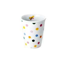RICE beker porselein - Let's summer dots print
