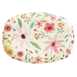 RICE melamine groot bord - Selmas Flower print