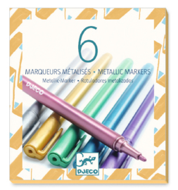 DJECO Colours - 6 metallic markers - 6 jr.+
