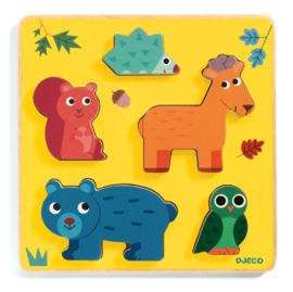 DJECO  houten puzzel Frimours 12 mnd. +