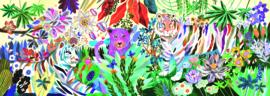 DJECO Puzzel Rainbow Tigers (1000 stukjes) 9 jr. +