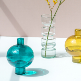 Urban Nature Culture - vaas - gerecycled glas - blauw
