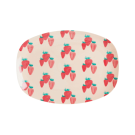 RICE melamine schaal klein - Strawberry print