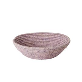 RICE ronde raffia (brood)mand - S - lavendel