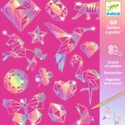 DJECO kraskaart met 60 stickers - Diamond  6 jr. +