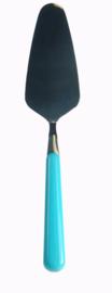 Brio taartschep - turquoise