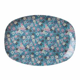 RICE melamine groot bord - Small Flower print