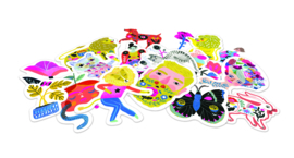 DJECO Doosje met 50 stickers - Sarah 3 jr. +