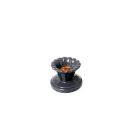 RICE kandelaar keramiek - donkergrijs
