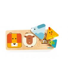 DJECO houten puzzel AnimaBasic  18 mnd. +
