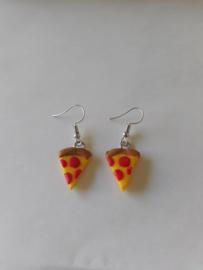 Oorbellen - I love pizza earrings