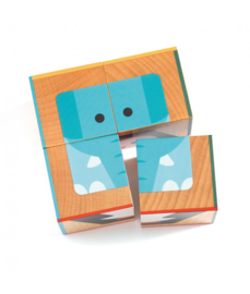 DJECO Cubabasic houten blokpuzzel 2 jr. +