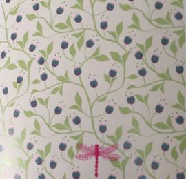 DJECO behangstrook 48 x 280cm - Volubilis - blauwe bloemen
