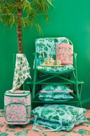 RICE (stoel) kussen met Green Rose print