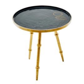 RICE metalen tafel rond - met tekst 'oui'