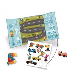 DJECO Create with Stickers - Auto's  18 mnd. +