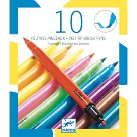 DJECO 10 dubbele stiften in POP kleuren - 6 jr. +