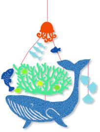 DJECO kleine mobiel - Walvis onder water