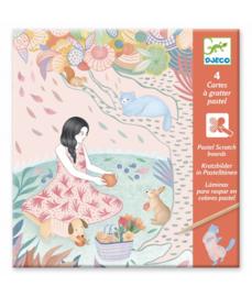 DJECO 4 pastel kraskaarten The Picnic  6 jr. +