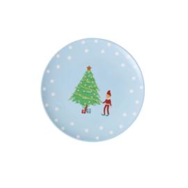 RICE melamine dessertbord 16cm - Xmas Elf print (AW21 kerst collectie)