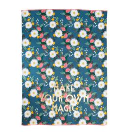 RICE theedoek - Wedding Bouquet print 'Make your own Magic'