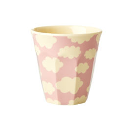 RICE kids beker small - Roze Wolk print